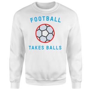 Football Takes Balls Sweatshirt - White