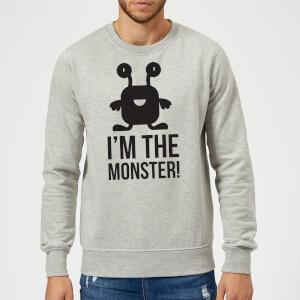 """Sudadera """"I'm The Monster"""" - Hombre - Gris"""