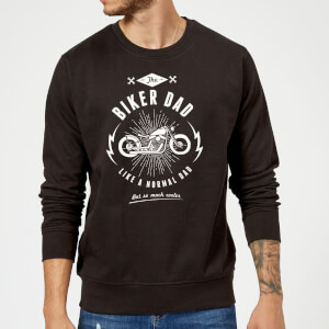 Biker Dad Sweatshirt - Black