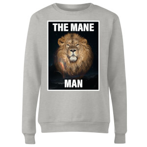 The Mane Man Women's Sweatshirt - Grey