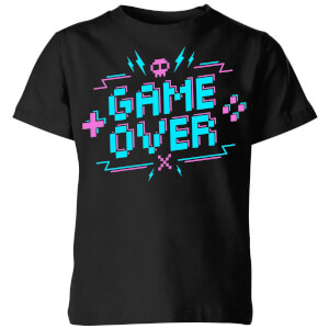 Game Over Gaming Kids T-Shirt - Black