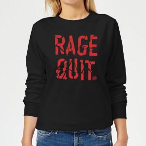 Rage Quit Women's Sweatshirt - Black