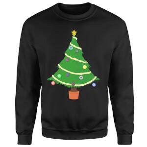 Buttons Tree Sweatshirt - Black