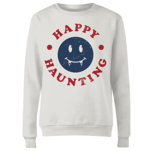 Happy Haunting Fang Women's Sweatshirt - White