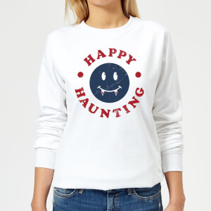 Happy Haunting Fang Women's Sweatshirt - White