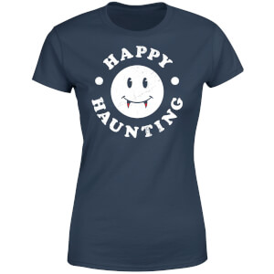 Happy Haunting Women's T-Shirt - Navy