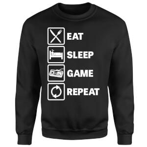 Eat Sleep Game Repeat Sweatshirt - Black