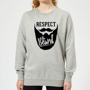 Respect the Beard Women's Sweatshirt - Grey