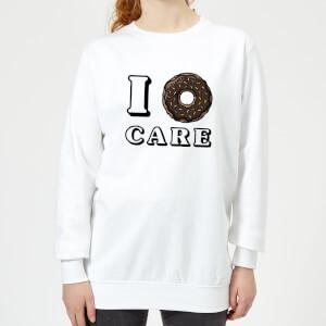 I Donut Care Women's Sweatshirt - White