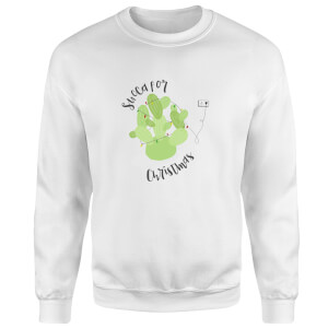 Succa For Christmas Sweatshirt - White