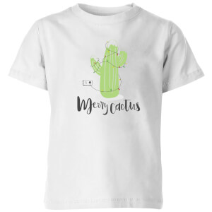 Merry Cactus Kids' T-Shirt - White