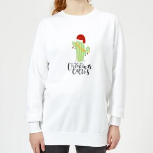 Christmas Cactus Women's Sweatshirt - White