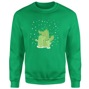 Cactus trio Sweatshirt - Kelly Green