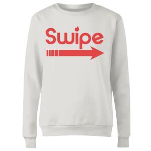 Swipe Right Women's Sweatshirt - White