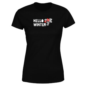 Hello Winter Women's T-Shirt - Black