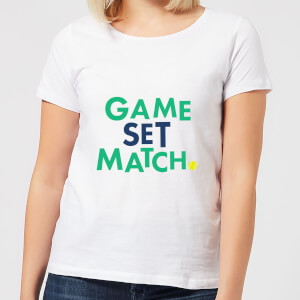 Game Set Match Dames t-shirt - Wit