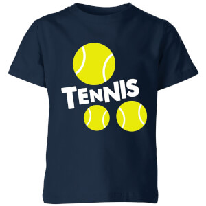 Tennis Balls Kids' T-Shirt - Navy