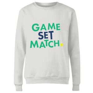 Game Set Match Women's Sweatshirt - White