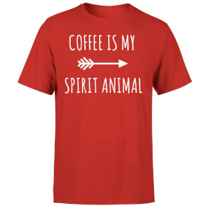 Coffee is my Spirit Animal T-Shirt - Red