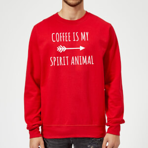 Coffee is my Spirit Animal Sweatshirt - Red