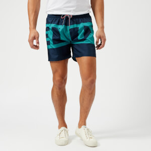 Diesel Men's Wave Logo Swim Shorts - Blue