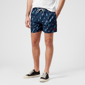 Ted Baker Men's Gusty All Over Print Swim Shorts - Navy