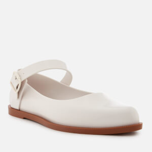 Melissa Women's Mary Jane Flat Shoes - White Contrast: Image 2