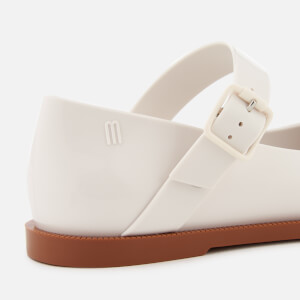 Melissa Women's Mary Jane Flat Shoes - White Contrast: Image 6
