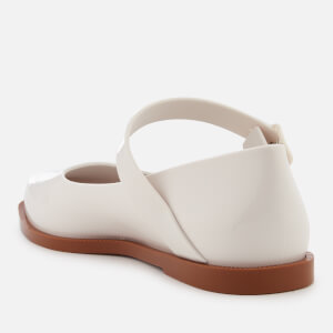 Melissa Women's Mary Jane Flat Shoes - White Contrast: Image 4