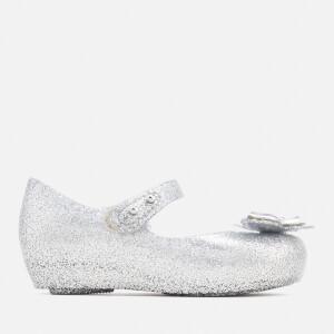 Mini Melissa Toddlers Ultragirl Butterfly 19 Ballet Flats - Silver Glitter