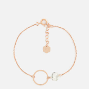Cluse Women's Idylle Marble Hexagon Chain Bracelet - Rose Gold
