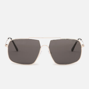 Tom Ford Men's Aiden Aviator Style Sunglasses - Shiny Rose Gold/Gradient Roviex