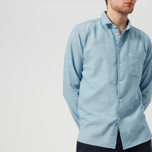 YMC Men's Curtis Shirt - Bleached Blue
