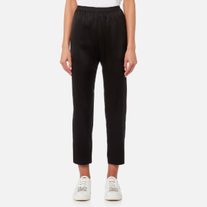 T by Alexander Wang Women's Wash & Go Woven Pants with Elasticated Waist - Black
