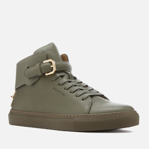 Buscemi Men's 100mm Clean Buckle Trainers - Military: Image 2