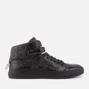 Buscemi Men's 100mm Buckle Naplak Trainers - Black