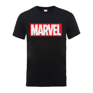 Marvel Main Logo Men's Black T-Shirt