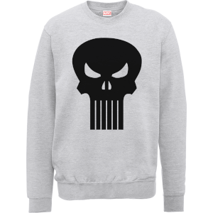 Marvel The Punisher Skull Logo Grey Men's Sweatshirt