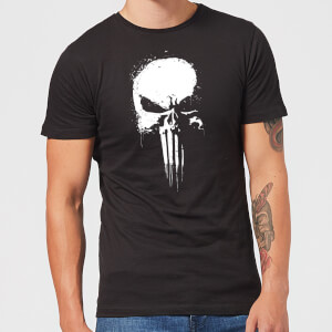 Marvel The Punisher Paintspray Heren T-shirt - Zwart