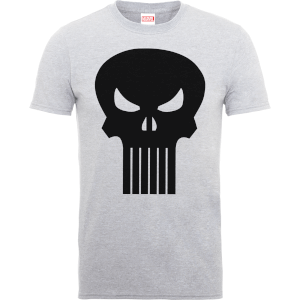 T-Shirt Homme Skull Logo - The Punisher Marvel - Gris