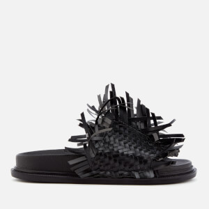 MM6 Maison Margiela Women's Tassel Slip On Sandals - Black