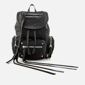 McQ Alexander McQueen Women's Mini Convertible Drawstring Backpack - Black
