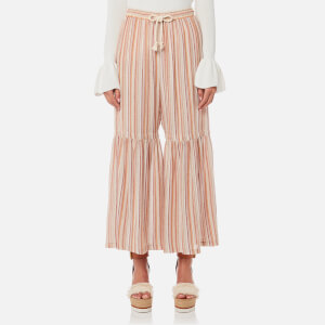 See By Chloé Women's Stripe Wool Gauze Trousers - Multi