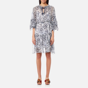 See By Chloé Women's Flower Python Dress - Blue Multi