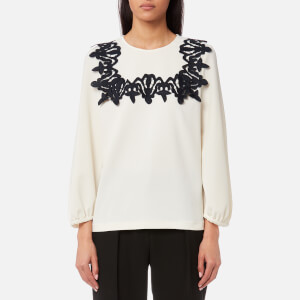See By Chloé Women's Crepe and Ribbon Top - Snow White