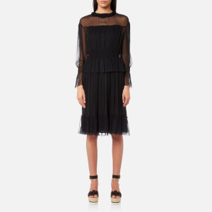 See By Chloé Women's Flouncy Silk Crepon Dress - Black