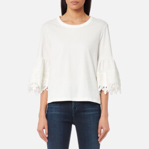 See By Chloé Women's Embellished Top - White Powder