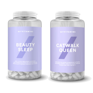 Myvitamins-vitamiinisetti: Beauty Sleep- ja Catwalk Queen -tabletit