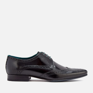 Ted Baker Men's Hosei Leather Wing Tip Brogues - Black