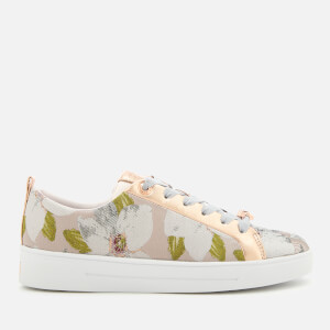 Ted Baker Women's Ahfiraj Jacquard Low Top Trainers - Chatsworth Nude